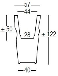 Saving space vase misure
