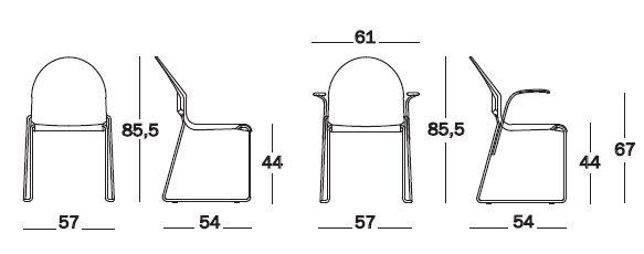 Dimensioni Aida Chair