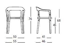 Steelwood Chair misure