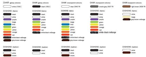 Vanity Chair colori