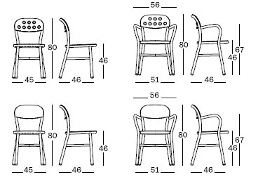 Pipe chair misure