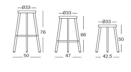 Dejàvu stool misure