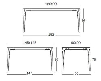 Dimensioni tavolo cucina trendy tavolo allungabile in - Dimensioni tavoli da cucina ...