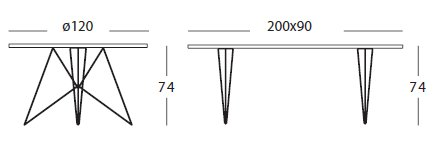 Tavolo XZ3 misure